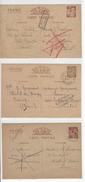 3 ENTIERS ENTIER INTERZONE IRIS INADMIS MAROC PARIS SEMUR BOURG PONT ST PIERRE CASTELNAUDARY /FREE SHIPPING R - Marcophilie (Lettres)