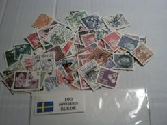 Lot 100 Timbres Suède - Timbres