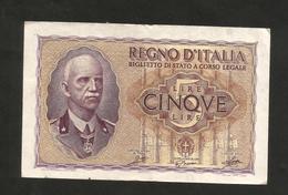 REGNO D´ ITALIA - 5 LIRE IMPERO (Decr. 1940 / XVIII - FIRME: Grassi / Porena / Cossu) - VITTORIO EMANUELE III - [ 1] …-1946 : Kingdom