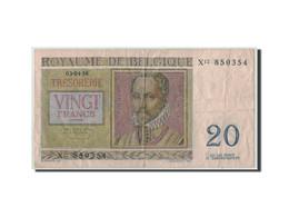 Belgique, 20 Francs, 1956, KM:132b, 1956-04-03, TB+ - [ 6] Treasury