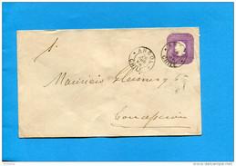 MARCOPHILIE -CHILI-lettre Entier Postal-5 Cent Colon Cad Angol-1898> Conception - Chile