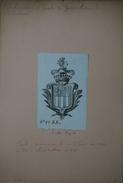 Ex-libris Héraldique Italien, XVIIIème - Paolo Andreani (Milan) - Aéronaute Célèbre, Mort En 1824 - Exlibris