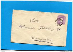MARCOPHILIE -CHILI-lettre Entier Postal-5cent Colon Cad PARRAL-1898> Conception - Chile