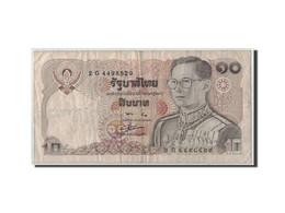 Thaïlande, 10 Baht, BE2523 (1980), KM:87, B+ - Tailandia