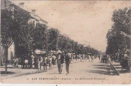 ALGERIE - AIN TEMOUCHENT / LE BOULEVARD NATIONAL - Autres Villes
