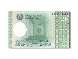 Tajikistan, 20 Diram, 1999, KM:12a, 1999, NEUF - Tayikistán