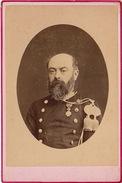 Cabinet Size Un Militaire Médaille Décoration à Mon Ami Monson Termonde 8 Octobre 1874 - Guerre, Militaire