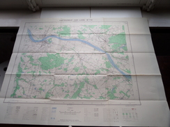 CHATEAUNEUF-sur-LOIRE N° 7-8 - 1/25.000 - 1957 ( Formaat 56 X 73 Cm. ) Zie Foto´s ! - Europa