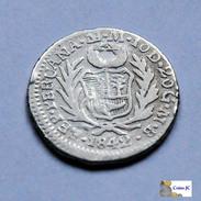 Perú - 1/2 Real - 1842 - Perú