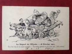 Illustrateur THOMER Politique Le Départ De L'Elysée 18 Fevrier 1913 (Fallières Remplacé Par Poincaré) - Altre Illustrazioni