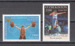 Uz 1151-1152 Uzbekistan Usbekistan 2016 XXXI Olympic Games In Rio De Janeiro - Uzbekistan