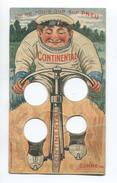 PARIS RARE CARTE PUBLICITAIRE SYSTEME PNEU CONTINENTAL  IMP BREGER LANG VELO  CHAMPION CYCLISTE  ELLEGAARD RYSER - Publicités