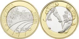 """FINLANDIA / FINLAND  5€  2.016  2016  BIMETALICA  SC/UNC   """"ICE HOCKEY - HOCKEY HIELO""""   T-DL-11.899 - Finlandía"""