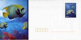 """PAP De 2012 Avec Timbre Et Illust. """"Poissons Tropicaux - Ange De Mer Impérial"""" + Carte De Correspondance Assortie - Postwaardestukken"""