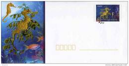 "PAP De 2012 Avec Timbre Et Illust.  ""Poissons Tropicaux - Hippocampe Feuille"" + Carte De Correspondance Assortie - Postwaardestukken"