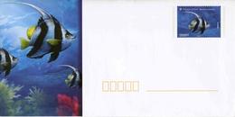 """PAP De 2012 Avec Timbre Et Illust. """"Poissons Tropicaux - Poisson Cocher"""" + Carte De Correspondance Assortie - Postwaardestukken"""