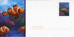 """PAP De 2012 Avec Timbre Et Illust.  """"Poissons Tropicaux : Poisson Clown"""" + Carte De Correspondance Assortie - Postwaardestukken"""