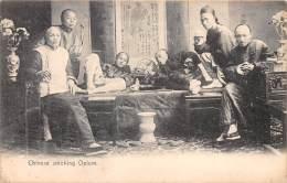THEME DROGUE / Chinese Smoking Opium - Beau Cliché Animé - Chine (Hong Kong)