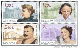 Moldova Moldawien 2010 MNH ** Mi. Nr. 684-687 Famous Persons - Moldavië