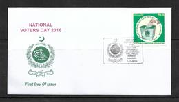 PAKISTAN 2016 FDC NATIONAL VOTERS DAY - Pakistan