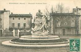CPA    Bedarieux  Monument Ferdinand Fabre    3400 - Bedarieux