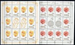 ROMANIA 1998 Flowers In Sheetlets Of 10 MNH / **/  Michel 5348-51 Kb - Blocks & Sheetlets