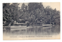 PAPUA NEW GUINEA - ARAPOKINA, Flusslauf, Motorboot, Urwald - Papua-Neuguinea