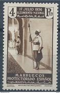 MA169SGDEV-L4184TAN.Maroc.Marocco  .MARRUECOS ESPAÑOL ALZAMIENTO NACIONAL 1937(Ed 183**) Sin Charnela MAGNIFICO - 1931-50 Nuevos & Fijasellos