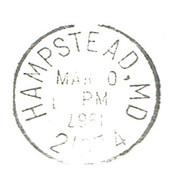 RARITY : Date Printed Upside Down On Postmark Of Hampstead (Md, USA) March 1967 - Varietà, Errori & Curiosità