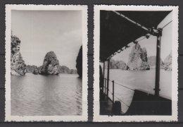 Viêt Nam - La Baie D'Along - Série De 2 Photos - 1950 - Places
