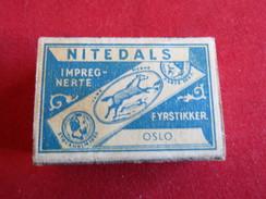 Vintage Boite D´Allumettes- Safety Matches- Nitedals - Norvège - Norway - Scatole Di Fiammiferi