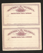 E)1898 NICARAGUA, 2 CENTAVOS SHIELD, AMERICAN BANKNOTE,  POSTCARD - Nicaragua