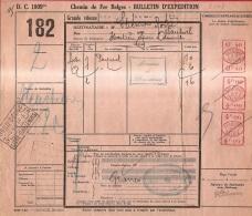 BRFE-8107       NORD BELGE  3  LIEGE GUILLEMINS   Met  AANKOMSTSTEMPEL    NORD BELGE    3   HASTIERE  + MACH FRANKERING - Noord-België