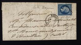 Grille Bayonne N°14 Napoléon Empire Non Dentelé - Postmark Collection (Covers)