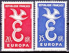 Série De 2 Timbres-poste Neufs** - Europa - N° 1173-1174 (Yvert) - France 1958 - France
