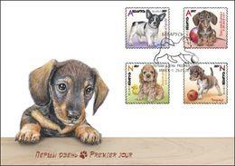 Belarus 2017 Puppies Puppy Dogs Dog Fauna FDC - Belarus