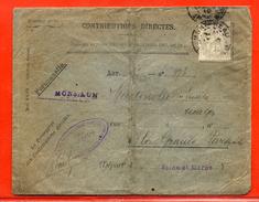 FRANCE N°107 SUR LETTRE  DE MONTEREAU - 1900-29 Blanc