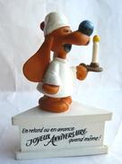 Rare FIGURINE SCHLEICH BOULE & BILL SOMNANBULE SUR SOCLE Joyeux Anniversaire 1985 - Autres