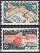 Série De 2 Timbres-poste Neufs** - Inauguration Du Palais De L'U.N.E.S.C.O. à Paris - N° 1177-1178 (Yvert) - France 1958 - France