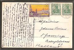 Aachen 26.7.1914.Werbe Vignette PARIS ESPERANTO 2-9 Aug. Familie Photo Karte - Allemagne