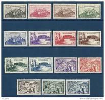 """Fezzan YT 28 à 42 """" Sites """" 1946 Neuf* - Fezzan (1943-1951)"""