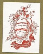 Publicité Papier - Le Parfum Grande époque De Raucour - 9X12cm - Jolie Illustration De Pierre Pagès - Etiquettes