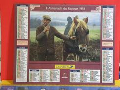 Calendrier > Le Veille Homme Et Son Cheval - Les Hommes Coupe L'herbe - Almanach Des P.T.T. 1993 Vendu En état - Grand Format : 1991-00