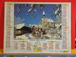 Calendrier > Villard Dessous 74 - L'été à Megève - Almanach Des P.T.T. 1990 Vendu En état - Calendriers