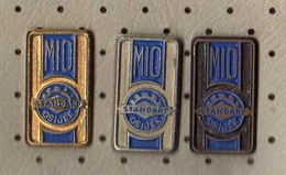 MIO STANDARD OSIJEK - Croatia, Agro Mechanization Agriculture, Vintage Pin Badge, Lot 3 Pieces - Merken
