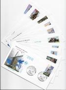 Enveloppes  1er Jour FDC .2004 10 Enveloppes Portraits De Régions - FDC