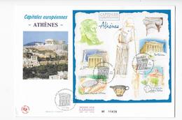 Enveloppes  1er Jour FDC 2004 1 Enveloppe Capitales Européenne ATHENE - 2000-2009