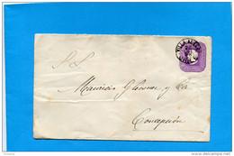 MARCOPHILIE -CHILI-lettre Entier Postal-5cent Colon Cad VILLA ALEGRE-1898> Conception - Chile