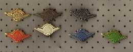 Yugoslavia, Macedonia, Cars Selling And Service Auto Macedonia, Set Of 7 Pins - Badges