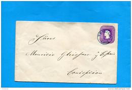 MARCOPHILIE -CHILI-lettre Entier Postal-5cent Colon Cad TEMUCO -1897> Conception - Chile